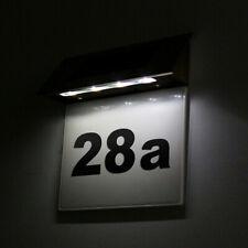 Solar Hausnummer Beleuchtung Mit 4 LEDs Hausnummernleuchte Beleuchtet Edelstahl