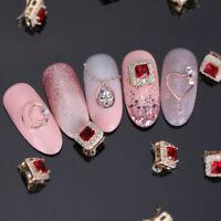3D Nail Art Decoration Nail Rhinestones Colorful Metal Studs Mixed Patterns