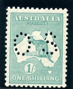 """Australia 1929 KGV Official """"Roo"""" 1s blue-green superb MNH. SG O116."""