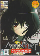 Another Anime DVD (Vol : 1 to 12 end + OVA + Live Movie) with English Dubbed