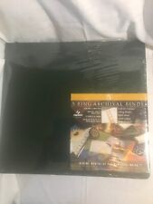 New Canson 5 Ring Archival Binder 15 Acid Free Sheets Green Holds 60 Museum Qual