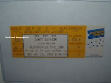 JANET JACKSON Unused MINT 1994 Concert Ticket GLEN HELEN PAVILION CA Very Rare