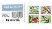 *Mint USPS Forever Stamps. Winter Songbirds. Snowbirds. 2016. Block of 4