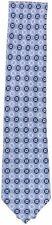 Zegna Men's Floral Dots Italian Silk Necktie