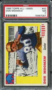 1955 TOPPS ALL AMERICAN #40 DONN MOOMAW PSA 7  *DS9177