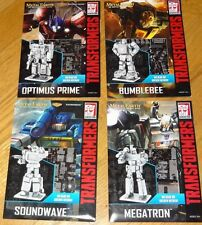 Transformers Set of 4 Metal Earth 3D Models Bumblebee Soundwave Megatron Optimus