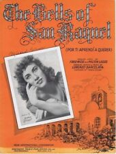 The Bells of San Raquel, Bonnie Stuart, 1941 vintage sheet music