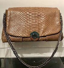 Henri Bendel Purse 👜 Shoulder Bag Snake Pattern Light Brown Silver Chain