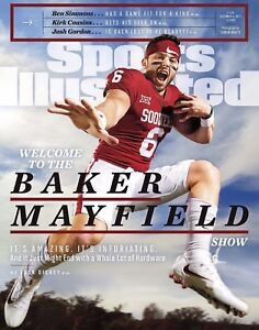 Baker Mayfield Oklahoma Sooners Sports Illustrated Cover - select size