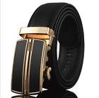 Genuine Leather Men's Automatic Buckle Belts Waist Strap Belt Waistbands