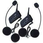 2× BT Interphone Bluetooth Casco De La Moto Multi Intercomunicador 6 Jinete