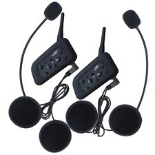 2× BT Interphone Bluetooth Casque Moto Multi Micro-casque 6 Pilote 1200M