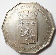JETON ARGENT DE LA CAISSE D'EPARGNE DE LYON 1822 (poinçon Abeille)