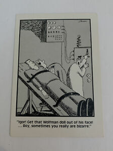 "The Far Side Gary Larson Igor Wolfman Frankenstein Vintage Comic 1985 4"" x 6"""