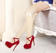 Cotton Glamour Patternless Stockings & Hold-ups for Women