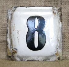 Original Soviet USSR House Metal Enamel Plate Sign Street House Door Number 8