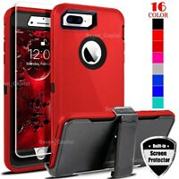 For iPhone 6 7 8 Plus Shockproof  Cover Case | Belt Clip Fit Otterbox Defender