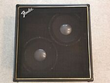 ULTRA RARE VINTAGE FENDER 2-12 CB AMP CAB with Electro Voice EV 12F Speakers