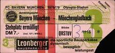 Ticket BL 78/79 FC Bayern München - Borussia Mönchengladbach