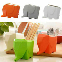 Elephant Shape Cutlery Utensil Drainer Organize Rack Dryer Holder ABS Kitchen