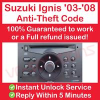 03-08 SUZUKI IGNIS RADIO STEREO CODE - QUICK