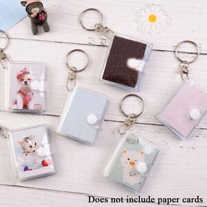 1/2 inch 16 Pockets Jelly Color Photo Album Mini Photo Sticker with Key Chain US