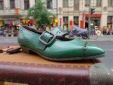TAUCHER ODENWALD ROBBY Kinder 60er Schuhe Gr. 31 Grün Vtg Leder 60s True Vintage