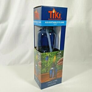 """Tiki Adjustable Flame Torch 2 Uses Tabletop Torch and 65"""" Full Size Torch"""