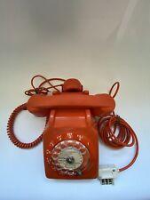 Téléphone Fixe Vintage Socotel S63 Auto Regulé Orange Retrocompatible