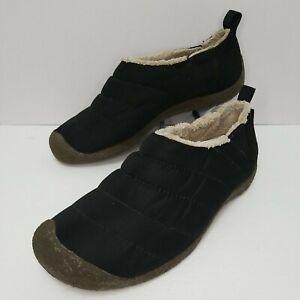 KEEN Men's Cush Howser Quilted Fleece Lined Slip On Shoes Comfort Black Size 9.5