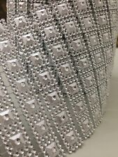 1 metro di lunghezza-Argento Diamante effetto nastro di rifinitura per Torta Nuziale Craft
