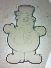 Flexible Mold Frosty the Snowman Christmas Holiday Resin Or Chocolate Mould