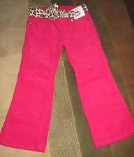 Brignt pink Pants with leopard belt size 4 Gymboree