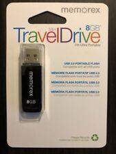 Memorex Mini TravelDrive 8GB USB 2.0 Flash Drive (Black) Model 98179
