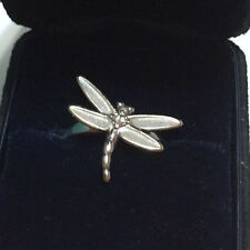 TIFFANY & CO 18kt 18k White Gold - Diamond DRAGONFLY RING with BOX - SIZE = 5.25
