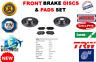 FOR NISSAN NV200 EVALIA 1.6 16V 1.5DCI 2010--> FRONT BRAKE DISCS SET + PADS KIT