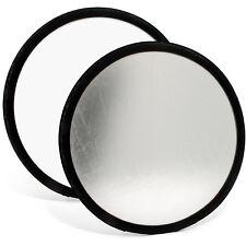 30cm Réflecteur de Lumière Diffuseur Pliable Photo Studio Blanc Argent + Housse