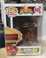 FUNKO POP POWER RANGERS ALPHA 5 #408 AUTHENTIC NEW IN BOX w/PROTECTOR