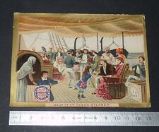 CHROMO 1885-1890 BISCUITS HUNTLEY AND PALMERS DECK OF AN OCEAN STEAMER
