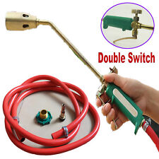 Hose Propane Weed Burner Torch Weed Killer Gas Piezo Fire Lighter Tube 2 Switch