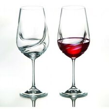 Turbolenza 550 ml DI CRISTALLO Bicchieri da Vino-Set di due-BOHEMIA CRYSTAL