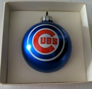 Chicago Cubs Glass Ball Christmas Ornament By Topperscot  Blue