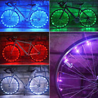 Bicycle 20 LED Rim Lights LED Wheel Spoke Light Bike Cycling String Strip Lamp