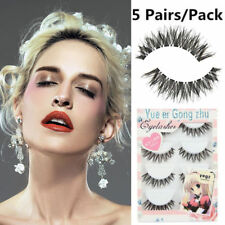 5 Pair/Lot Crisscross False Long Black Eyelashes Lashes Voluminous Eye Lashes  A