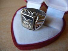 star stamp 8.5 g Size 12 Signet Vintage Ring Kubachi Ussr Sterling Silver 916