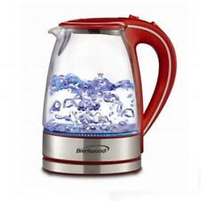 Brentwood KT-1900R Tempered Glass Tea Kettles 1.7 Ltr Red