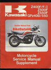 Kawasaki GPZ550 Z550F Z400F (83-85) Supplementary Manual ZX ZR GPZ 550 400 CJ77
