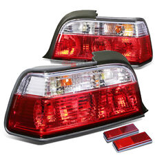 FOR 92-98 BMW E36 3-SERIES 2DR BLACK HOUSING RED LED BRAKE TAIL LIGHTS/LAMPS
