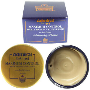 Men's Matte Hair Moulding Paste Maximum Control Wax Styling Product Admiral