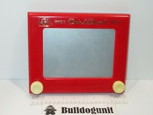 Classic Vintage Magic Etch-A-Sketch Screen Red Toy Ohio Art Drawing